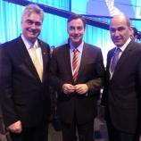 Dr. Zver in Janez Janša z Davidom McAllisterjem, vodjo CDU liste kandidatov za evropski parlament